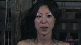 Ugly Korean Tia Ling gets treated rough in BDSM way image