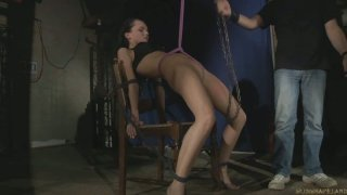 Image: Anabell is hard punished by her master