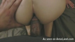 Black haired Latina chick gets her anus drilled image