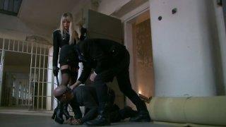 Latest ibu tiri telanjang di depan anak tiri: Bodacious blonde mistress natalli di angelo works on two_fat pricks image