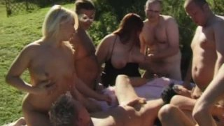 Real_swinger_Suzy_loves_having_a_group_fuck_outdoors image