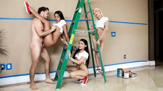 Contractor Fucks 3 Girls as Payment! image