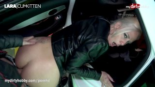 Public sex and cumshot in German car park image
