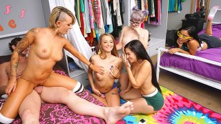 Kinky College Group Sex Party Time! image