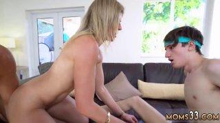 Image: Nerdy teen school threesome and cute heels Stepmom Turns Wet Dreams