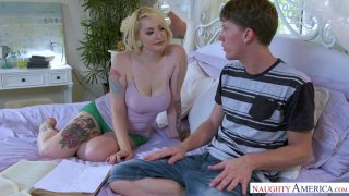 Busty Blonde Hadley Haze Needs Help With Dick & Geometry image