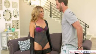 Horny Mom Stevie Lix Seduces A Young Dude image