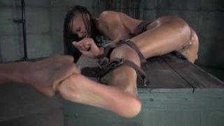 Ebony Sub Gets Feet Dominated By Master image