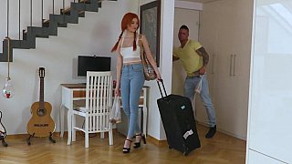Image: Inviting a redhead hottie over to his place