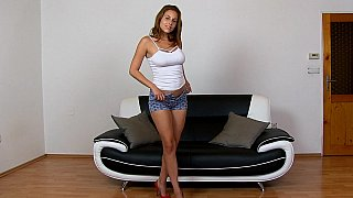 Natural titted Antonia spreading_pussy image