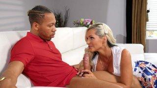 Alena Croft gives nice blowjob to Ricky Johnson image