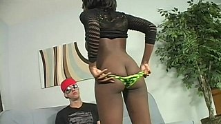 Image: Big titted ebony pleases a big white cock
