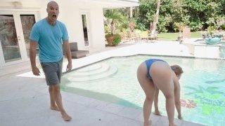 Sexy Lena Paul pool-side euphoria image