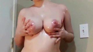 Lesbian JOI and_Big Oiled Tits. image