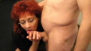 Mature redhead amateur wife sucks and fucks image