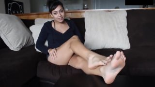 Light Skin Girls Feet | Foot Fetish JOI Game_| Red Light Green Light | POV! image