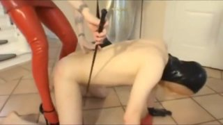 Domina playing with her breathplaytoy image