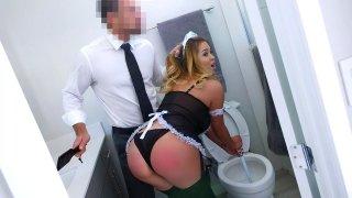 Asian Maid Service Spanked & Banged image