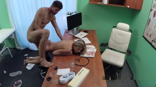 Doctor Bangs Slim Blonde Patient image