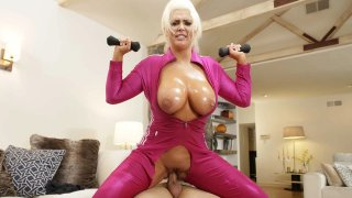 Roid Raged Gym-MILF Jumps on Cock image