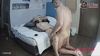 Hidden cam caught a couple_fucking on a bed image