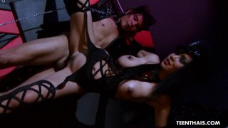 Japanese mistress Mintra fucks hard with her tied image