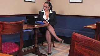 Busty in office clothes image