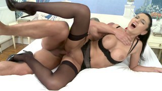 French lingerie babe gets some anal doggystyle image