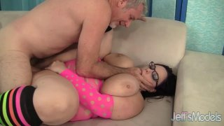 BBW Lyla Everwett Uses_Her Floppy Tits and Fat Belly to Make a Dude Cum image