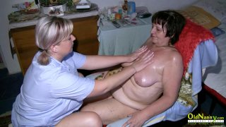 OldNannY Lesbian Mature Enjoys Horny Attention image