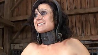Gagged gal_with clamped nipples receives wild joy image
