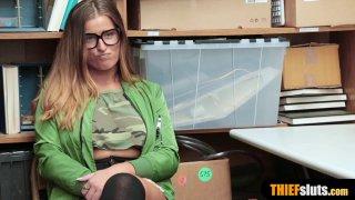 Bespectalced shoplifter geek chick gets fucked_hard image