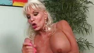 This blondes got her eyes on one thing Big Cock image