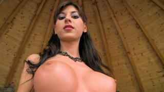 Beautiful brunette babe Ashley Brooke shows off her gorgeous body image