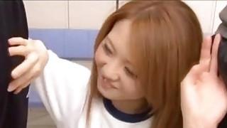 Hot Japanese schoolgirl gets fucked balls deep_in gym class image