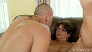 Mature Gigi M gets her_hairy twat licked and rammed image