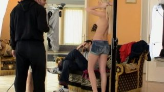 Sexy babe Valentina Rossi gets the instructions from the camera man image