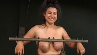 Pretty babes nipps acquires painful torturing image