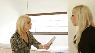 Nina Elle is worried about her bad stepdaughter so she decides to drills her ass image