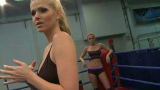 Image: Feisty Katalin and Lily Love are having passionate fight on a ring