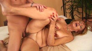 Flabby milf Lady enjoys horny stud Steve Q image