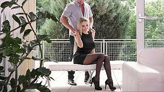 Foot fetish affair with a hot teen blonde image
