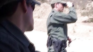 Redhead In_A Skirmish_With Border Patrol image
