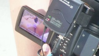 Behind the scene video with solo masturbating girl Cathy Heaven image