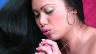 Asian cock sucker Mya Luanna finds young dick to ride image