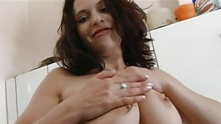 Diva pleases dude with her sexual titty fucking image