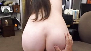 Horny cute babe spread her legs to fuck for cash image