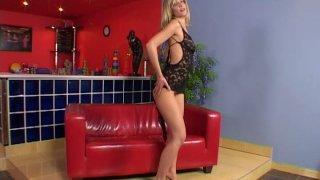 Aphrodisiac babe Tiffany Rousso stripteases and masturbates image