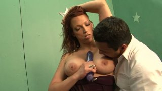 Curvy brunette MILF Nicki Hunter gives head and gets her pussy licked image