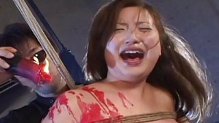 Bdsm teen gets tied up and she gets waxed image